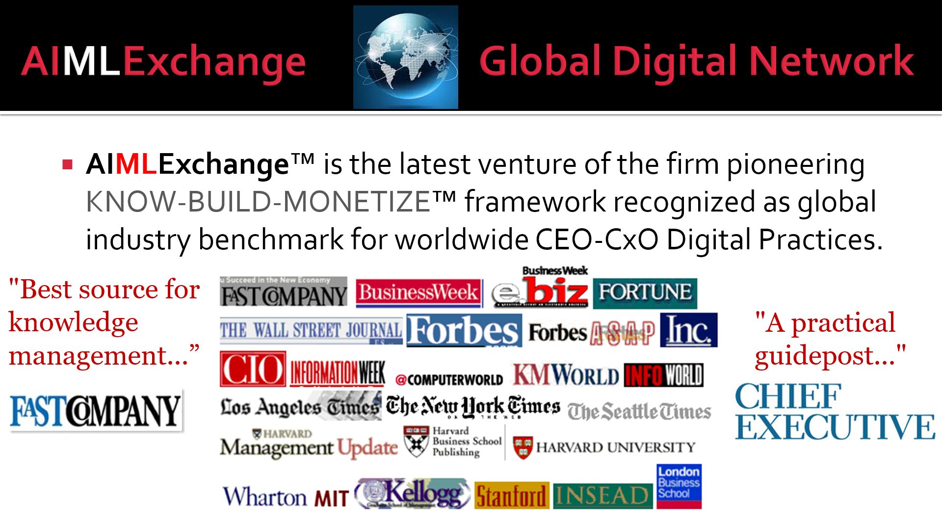 AIMLExchange™: Global Media Reviews as Industry Benchmark