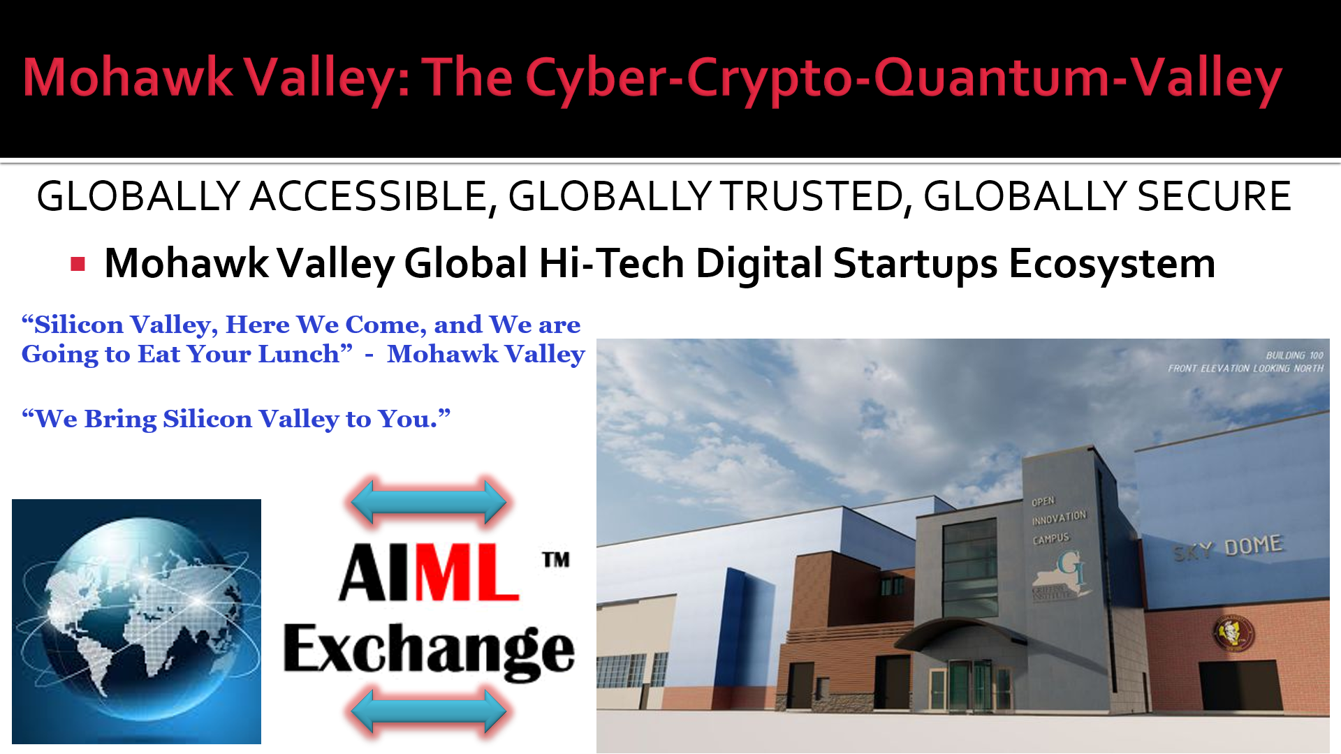 AIMLExchange™: AFRL Open Innovation Center: Mohawk Valley: The Cyber-Crypto-Quantum-Valley