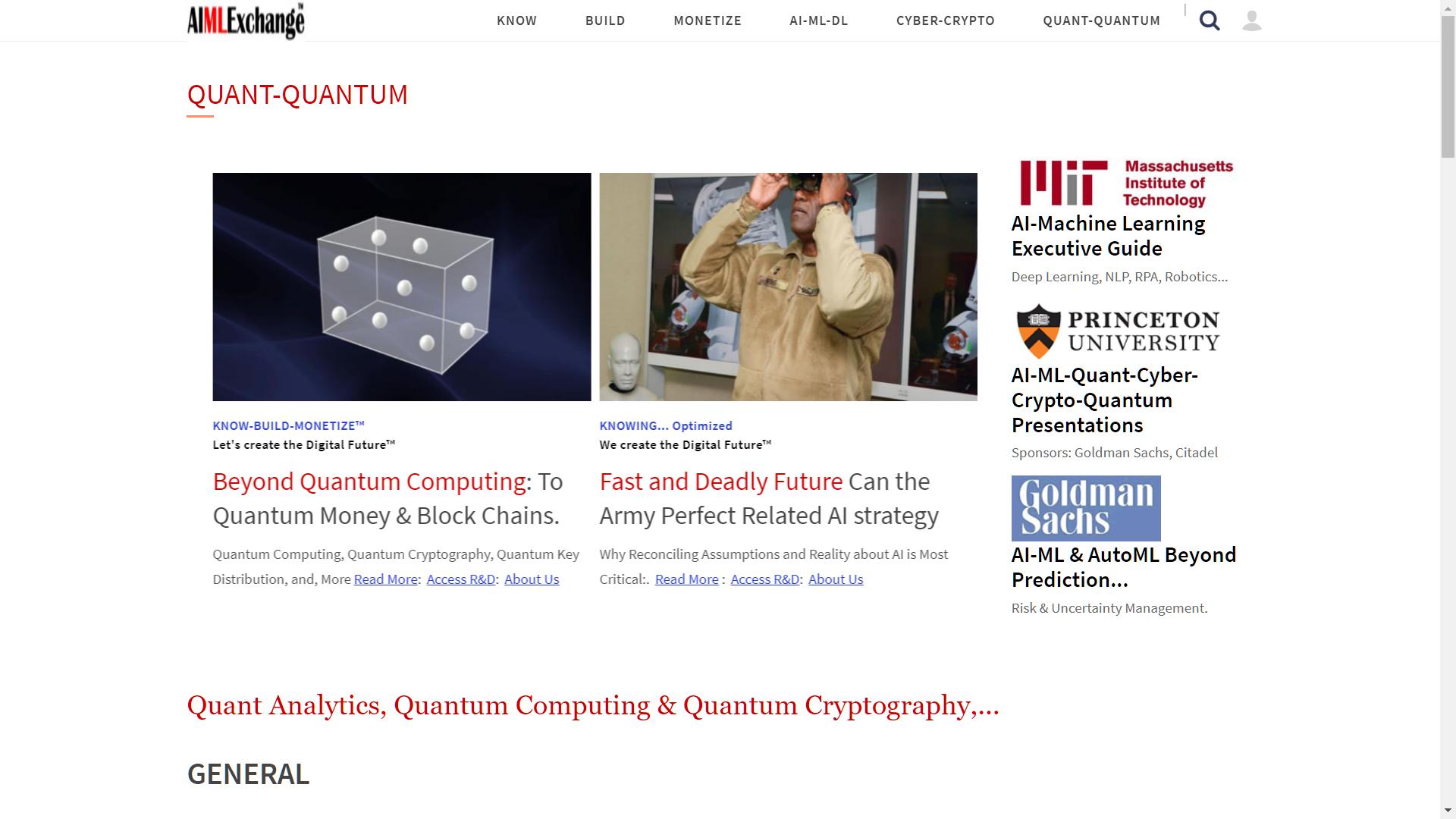 AIMLExchange™: Quant Analytics, Quantum Computing & Quantum Cryptography,...