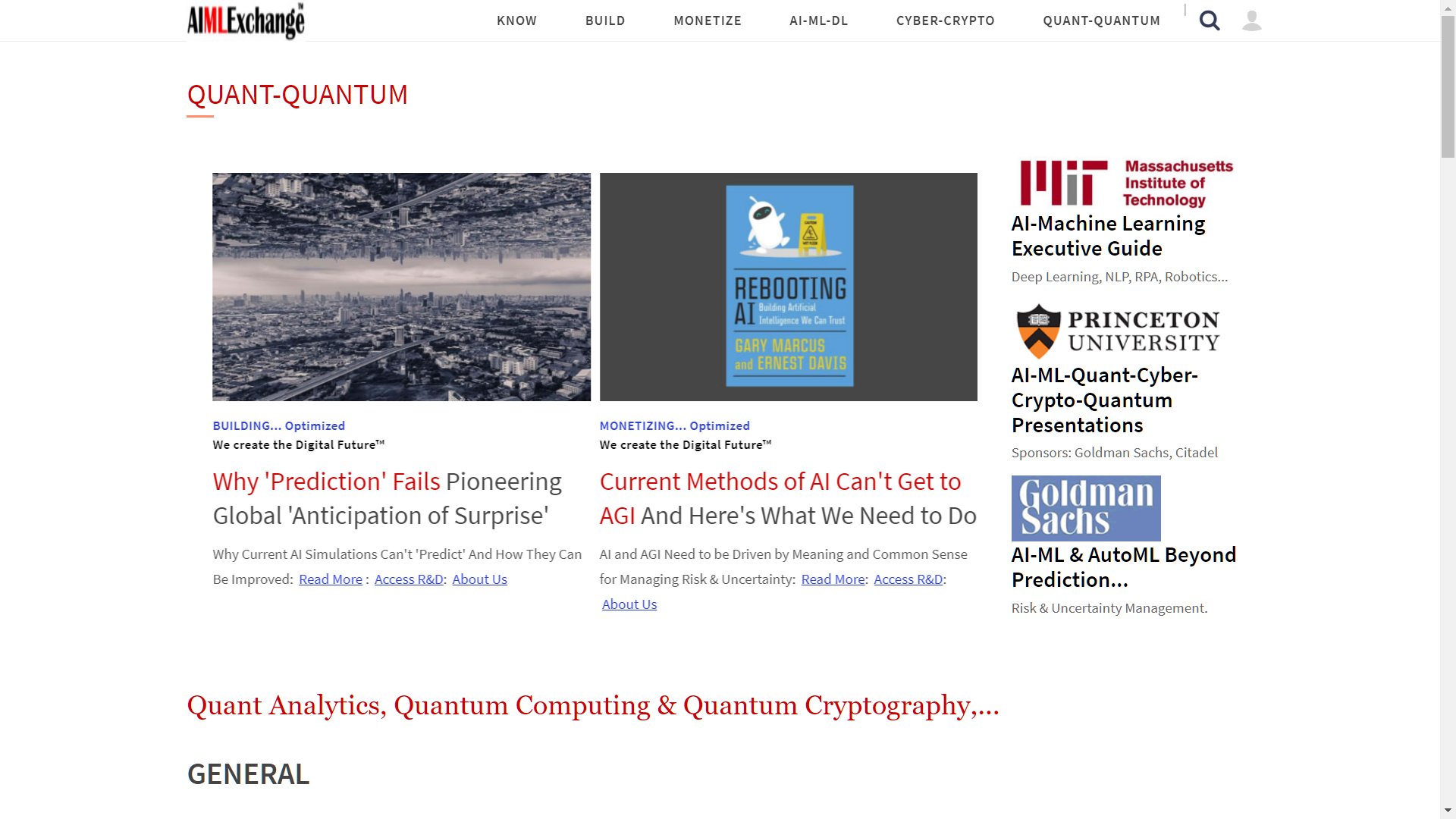 AIMLExchange™: Quant Analytics, Quantum Computing & Quantum Cryptography,....